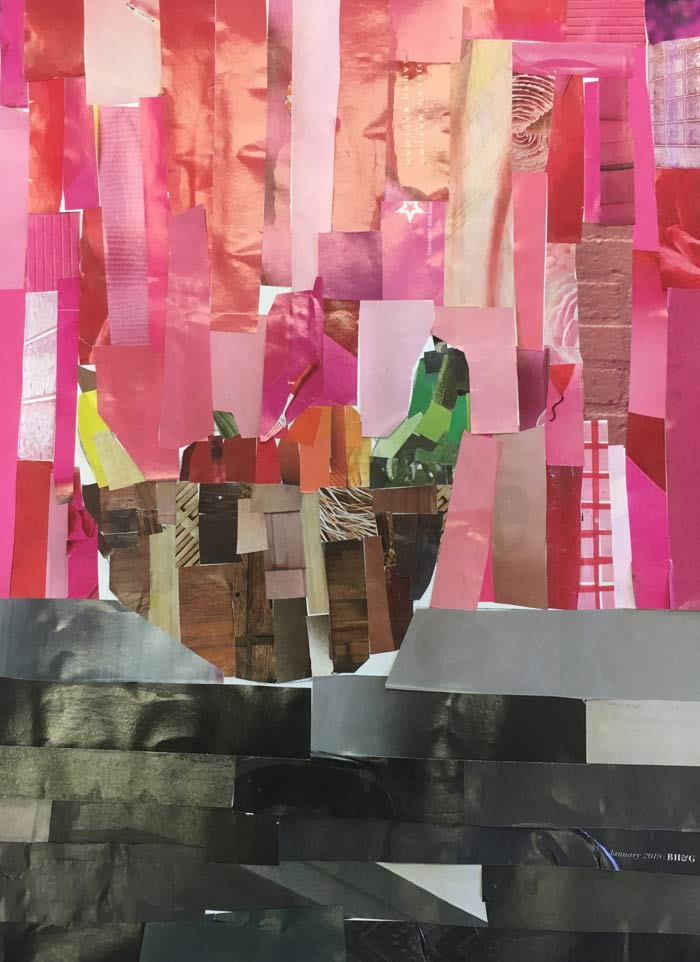 Student collage from Tucson inspired by Megan Coyle's collages