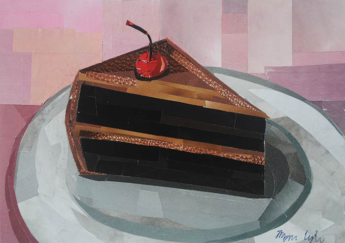 A Piece of Cake by collage artist Megan Coyle