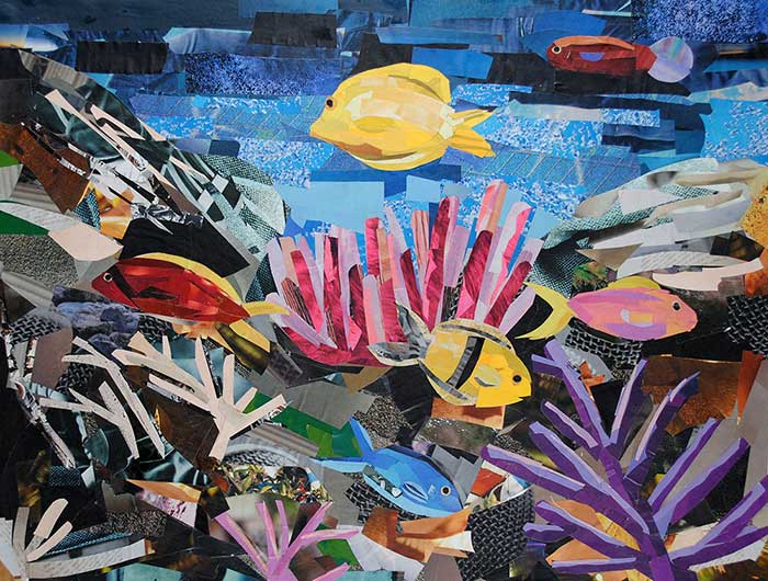 A Piece of the Ocean by collage artist Megan Coyle