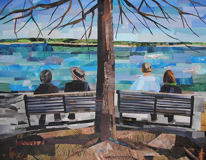 A Potomac River Afternoon by collage artist Megan Coyle