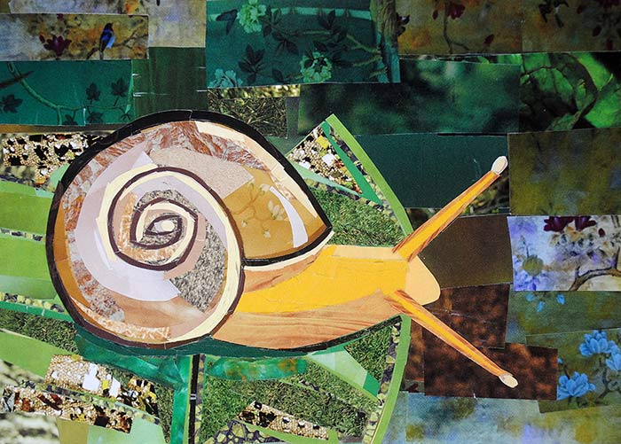 A Snail's Life by collage artist Megan Coyle