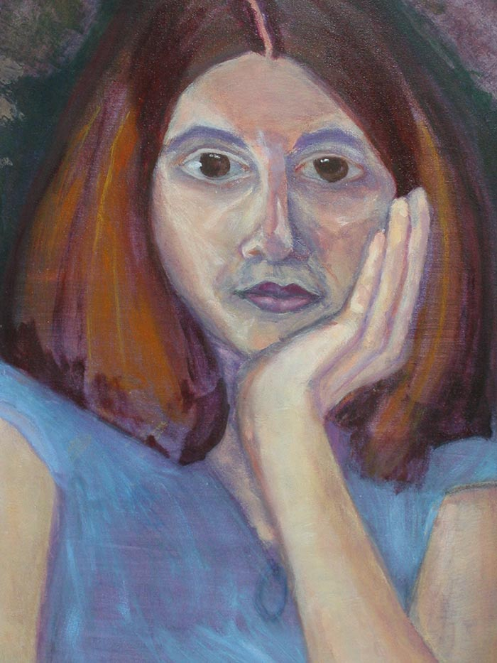Acrylic Self Portrait by Megan Coyle