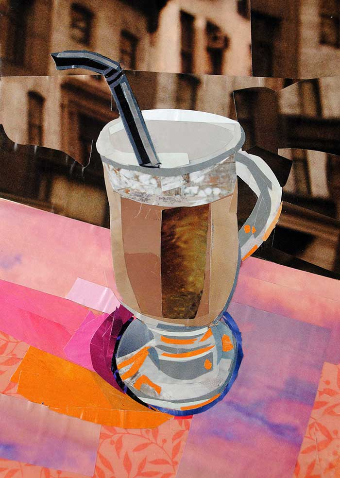 Afternoon Drink by collage artist Megan Coyle