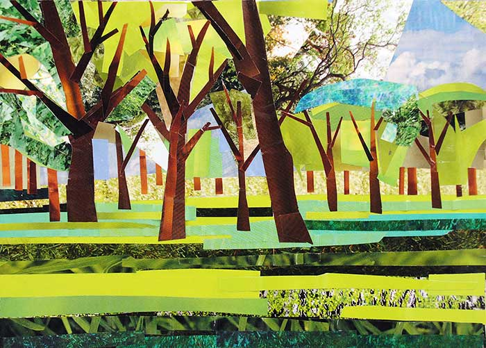 Afternoon in the Park by collage artist Megan Coyle