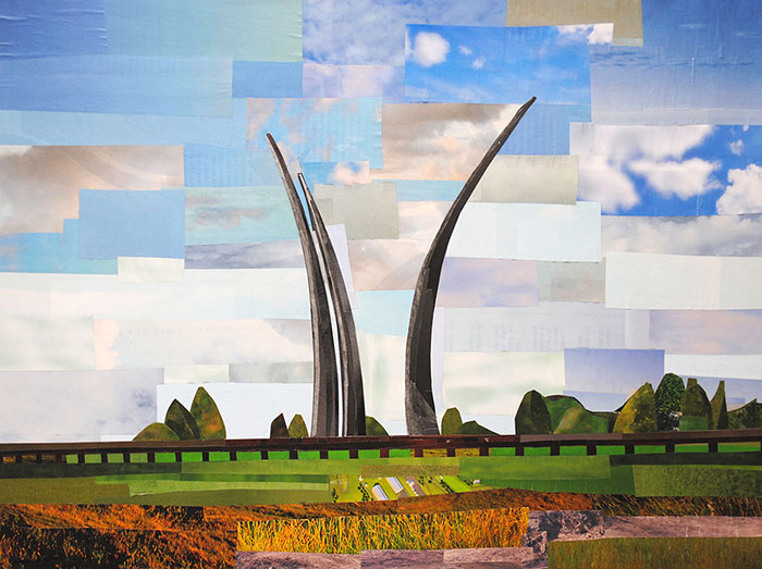Air Force Memorial by collage artist Megan Coyle