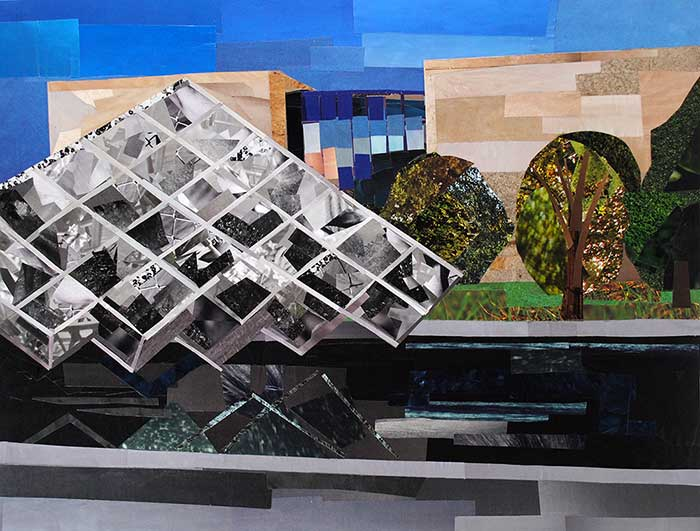 Air and Space Museum by collage artist Megan Coyle