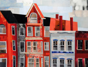 All in a Row by collage artist Megan Coyle