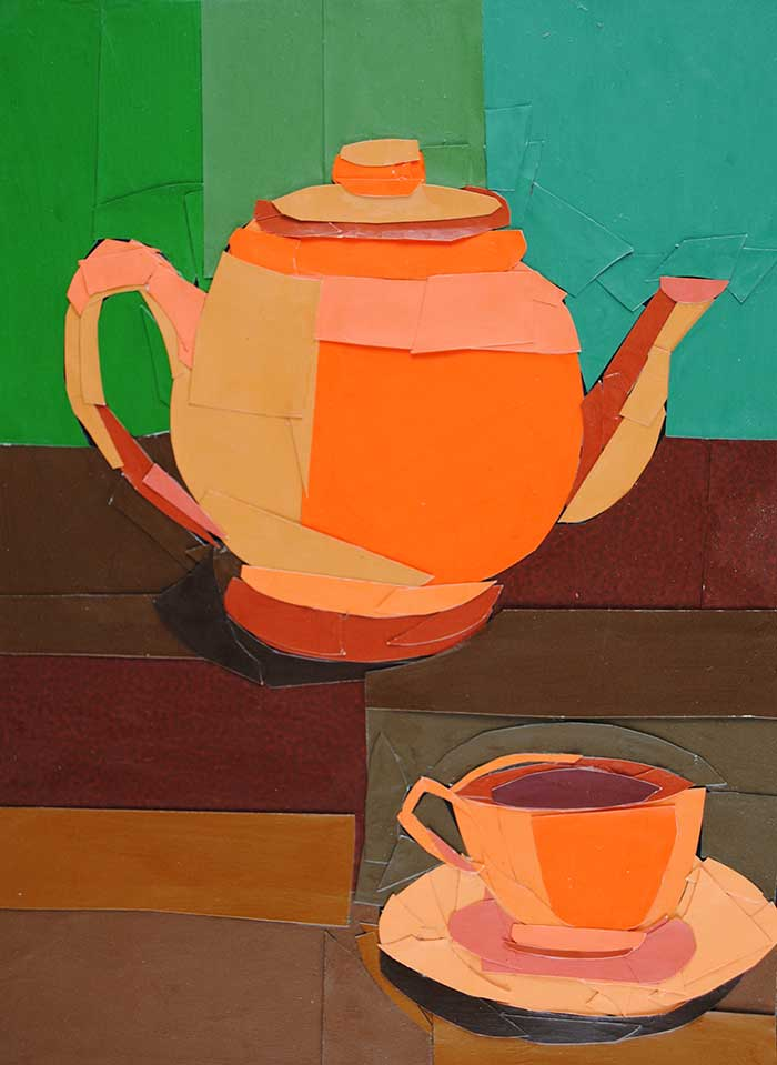 Autumn Tea by collage artist Megan Coyle