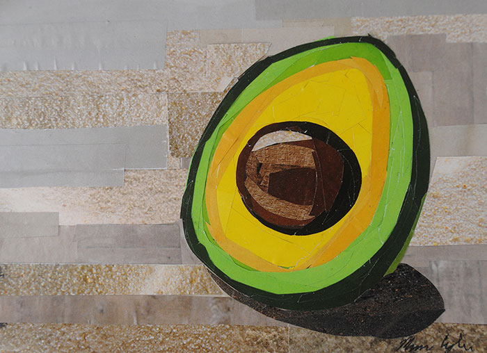 Avocado Time by collage artist Megan Coyle