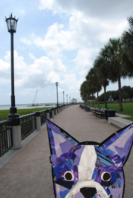 Bosty goes to Charleston by collage artist Megan Coyle