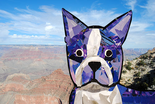 Bosty goes to the Grand Canyon by collage artist Megan Coyle
