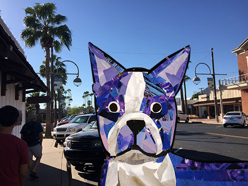 Bosty goes to Phoenix by collage artist Megan Coyle