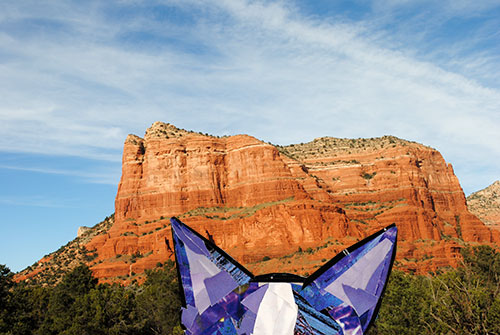 Bosty goes to Sedona by collage artist Megan Coyle