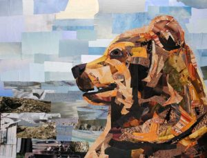 Brown Bear by collage artist Megan Coyle