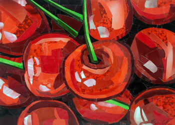 Cherries by collage artist Megan Coyle