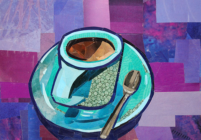 Coffee Break by collage artist Megan Coyle