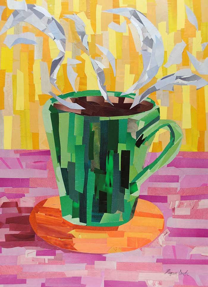 Green Coffee Cup 16 X12 Megan Coyle Artist Amp Illustrator