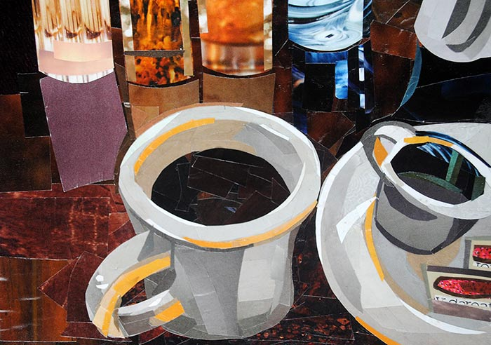 Coffee Refuel by collage artist Megan Coyle