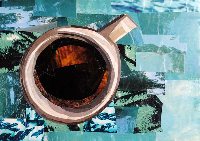 Coffee Time by collage artist Megan Coyle