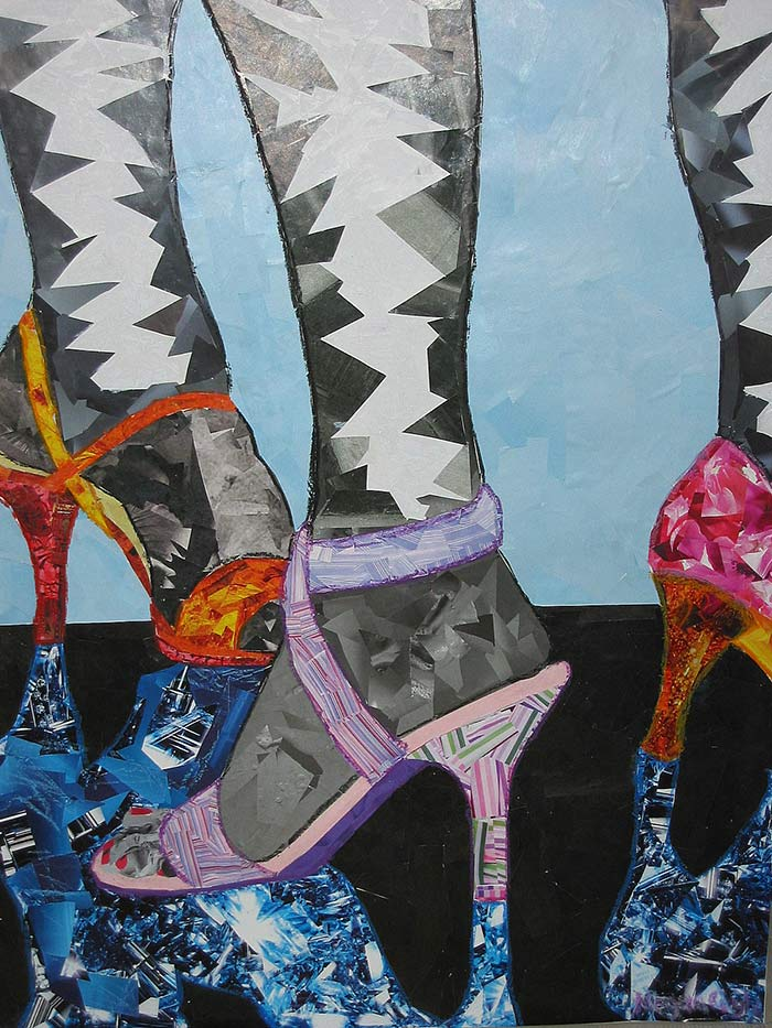Heels by collage artist Megan Coyle