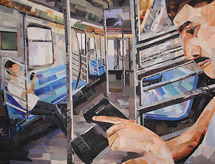 Commuters by collage artist Megan Coyle