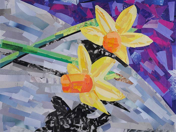 Daffodils by collage artist Megan Coyle