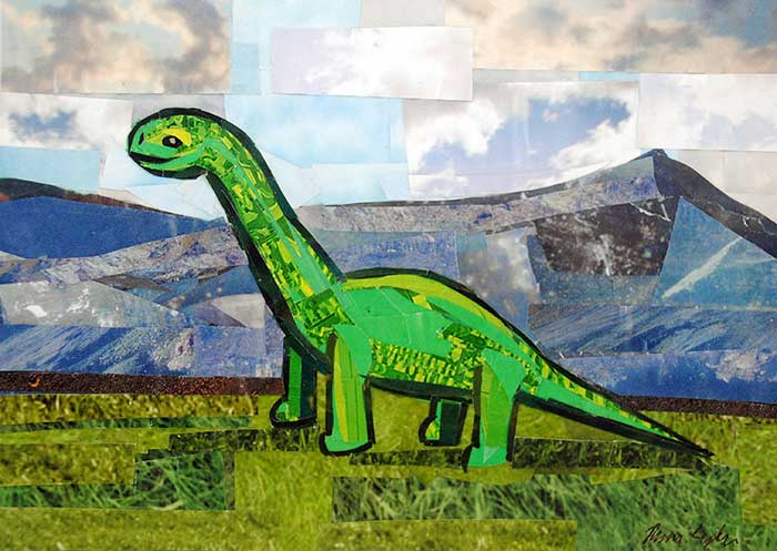 Dino-Mite by collage artist Megan Coyle