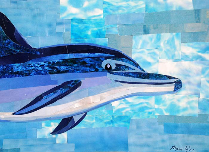 Dolphin by collage artist Megan Coyle