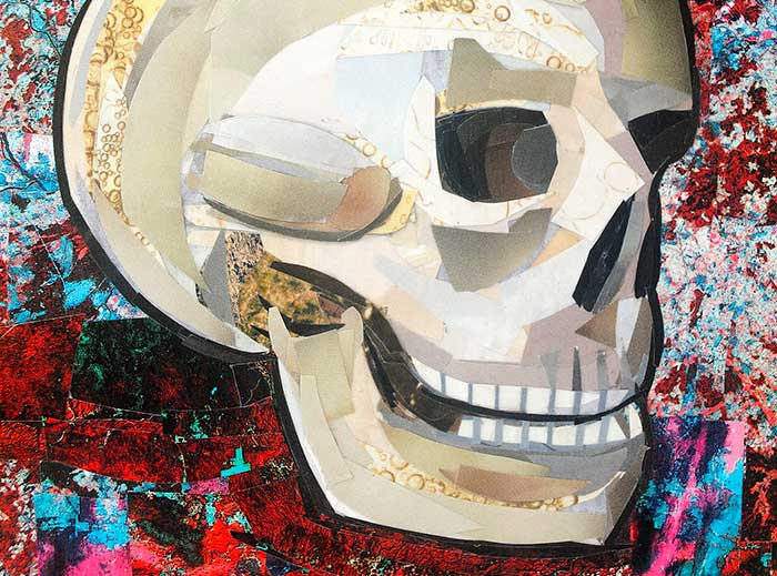 Don't Lose Your Head by collage artist Megan Coyle