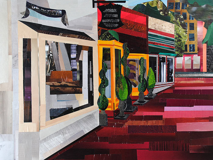 Downtown Shopping by collage artist Megan Coyle