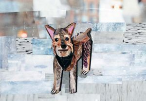 The Ewok Terrier by collage artist Megan Coyle