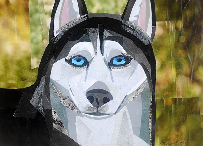 Feeling Husky is a collage by Megan Coyle