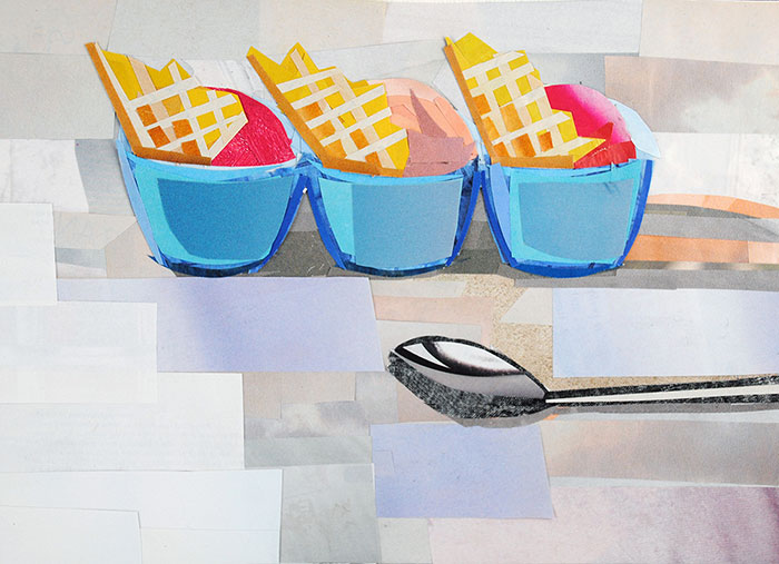 Gelato Time by Collage Artist Megan Coyle