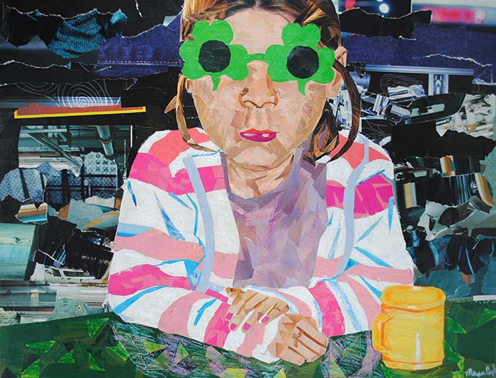 Girl with Glasses by collage artist Megan Coyle
