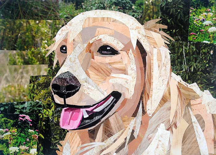 Golden Girl by collage artist Megan Coyle