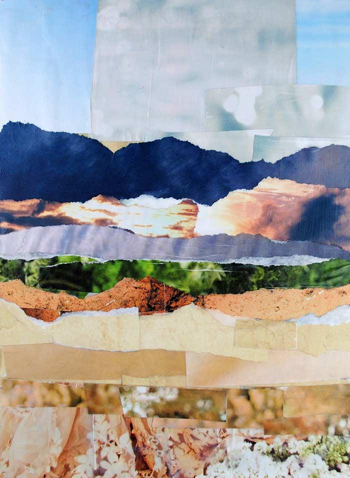 Golden Plains by collage artist Megan Coyle