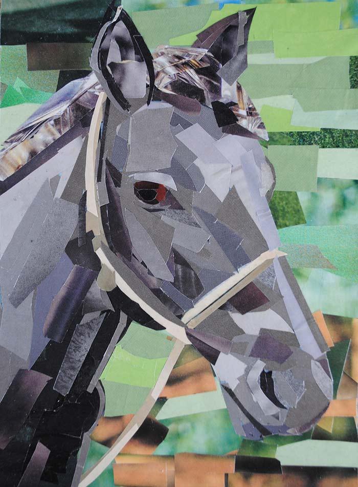 Portrait of a Horse by collage artist Megan Coyle