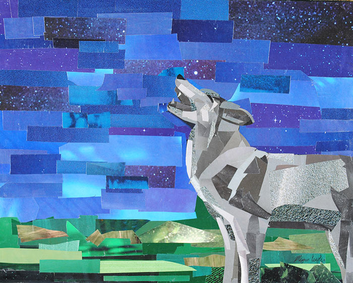 Howl by collage artist Megan Coyle