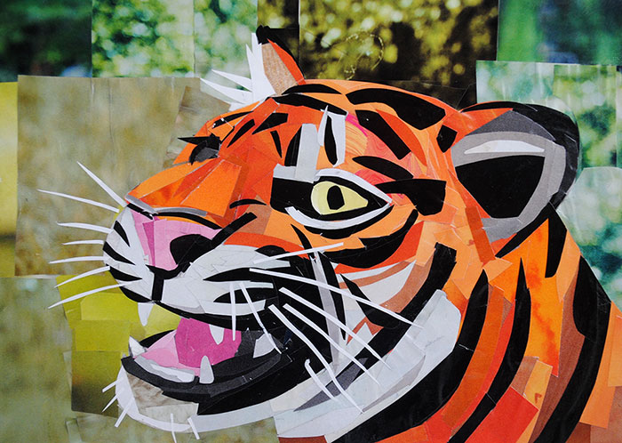 I Am Tiger, Hear Me Roar by collage artist Megan Coyle
