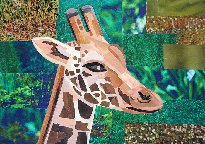 I'm Convinced That All Giraffes Are Aliens by collage artist Megan Coyle