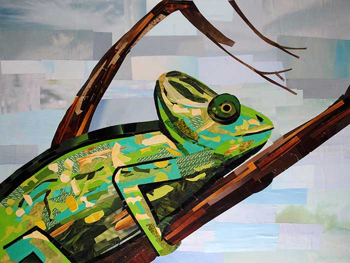 Karma Chameleon by collage artist Megan Coyle