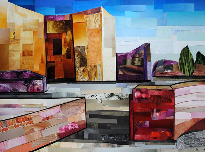 Landscape by collage artist Megan Coyle