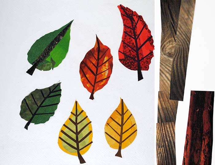 Leaves by collage artist Megan Coyle