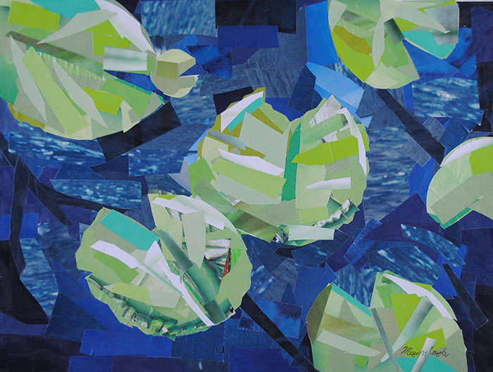 Water Lilies by collage artist Megan Coyle