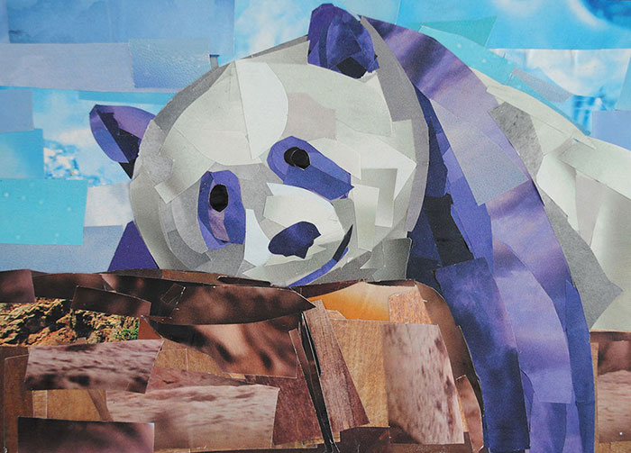Lounging Panda by Megan Coyle