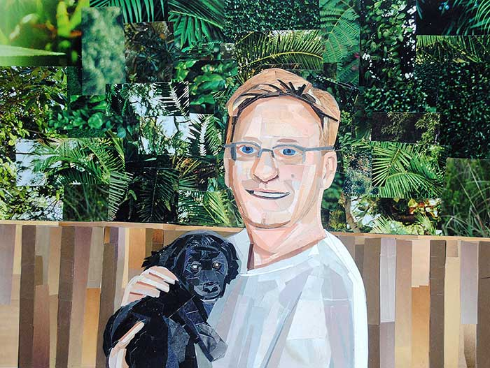 Mark and Sophie by collage artist Megan Coyle