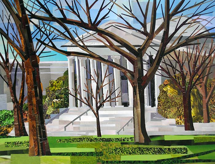 National Gallery by collage artist Megan Coyle