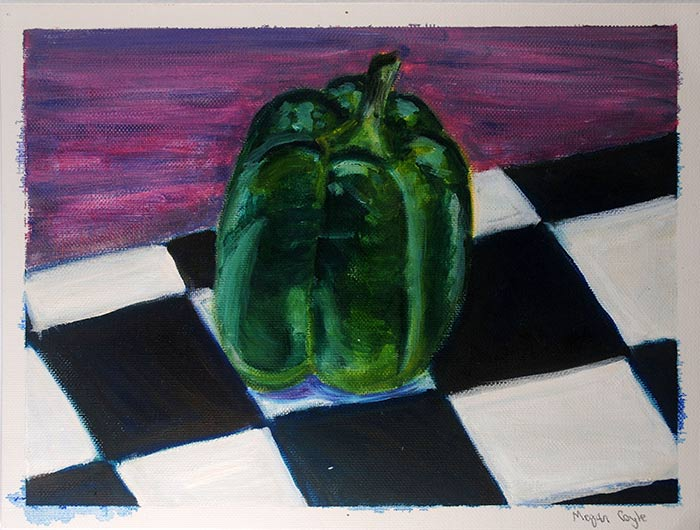 Bell Pepper Oil Painting by Megan Coyle