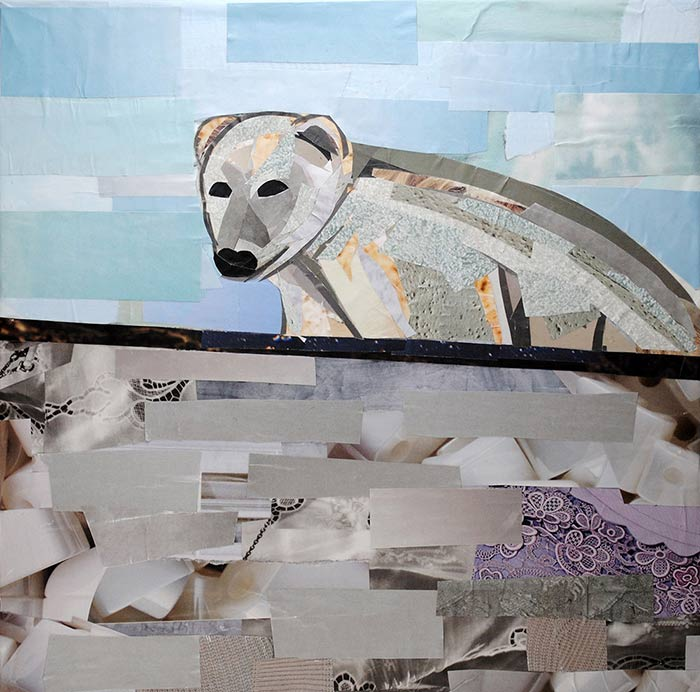 Polar Bear by collage artist Megan Coyle