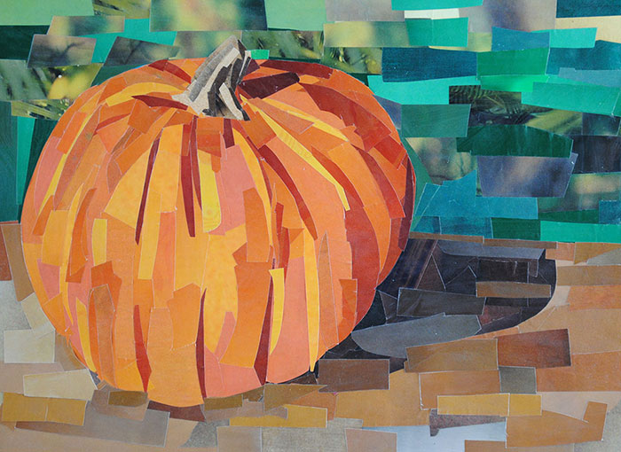 Pumpkin by collage artist Megan Coyle